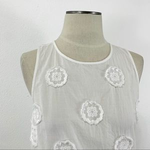 Madewell Tops - Madewell- Embroidered Side Tie Cotton Top Size S